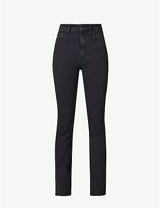 MOTHER: The High-Waisted Rider slim-fit skinny high-rise stretch-denim jeans