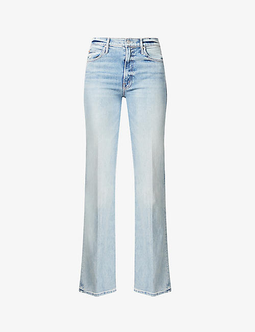 MOTHER: The Kick It straight-leg mid-rise jeans