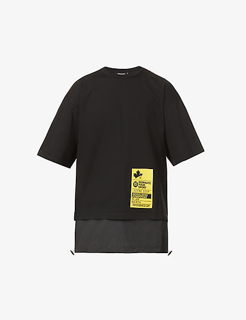 DSQUARED2: Dominate brand-patch cotton-jersey T-shirt