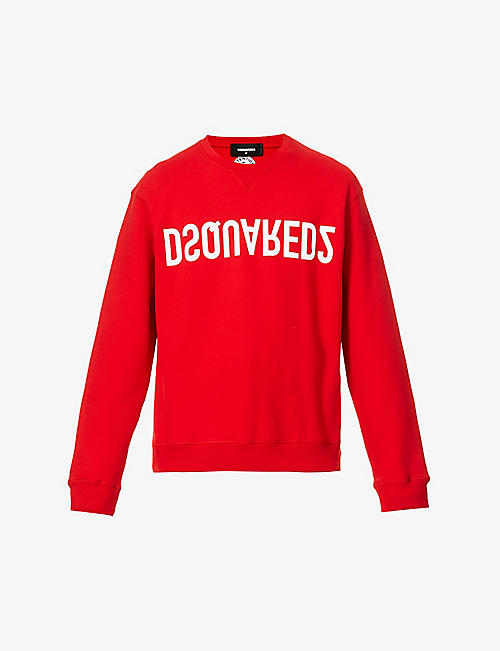DSQUARED2: Mirror logo-print cotton-jersey sweatshirt