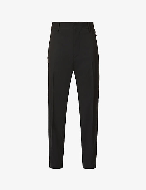 DSQUARED2: Brad high-rise tapered stretch-wool trousers