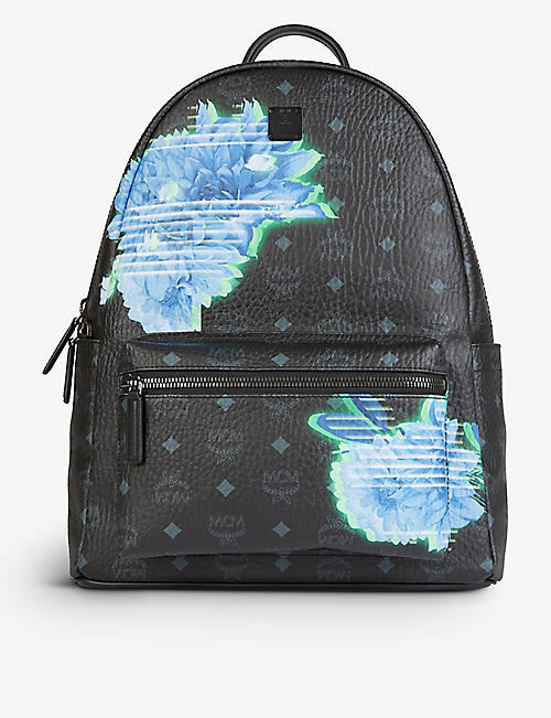 MCM: Stark floral faux-leather backpack