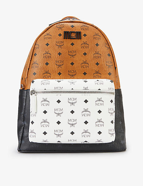 MCM: Stark Visetos graphic-print woven backpack