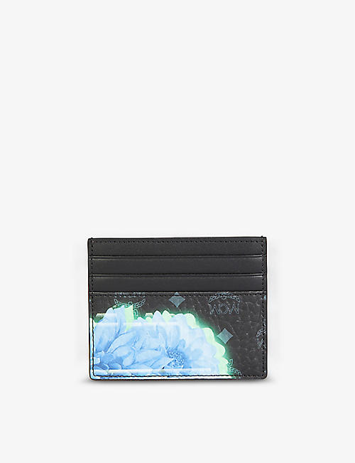 MCM: Floral faux-leather cardholder