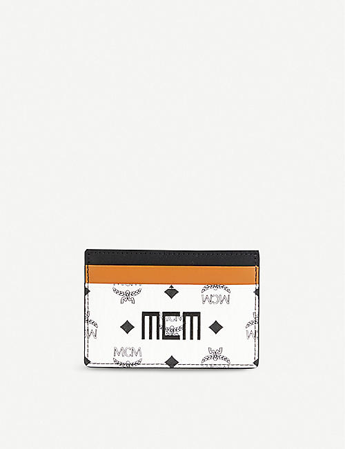 MCM: Visetos logo-print coated-canvas card holder