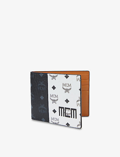 MCM: Visetos-print coated-canvas billfold wallet