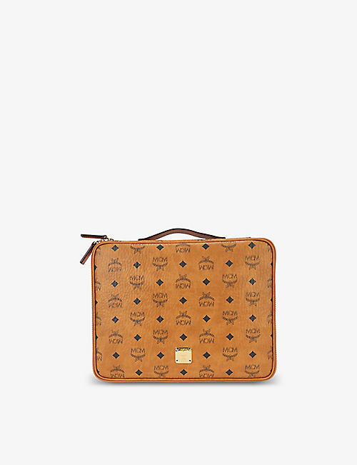 MCM: Visetos-print padded coated-canvas iPad case