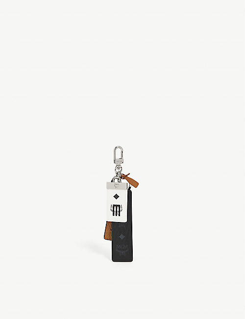 MCM: Visetos Mix branded faux-leather key ring and charms