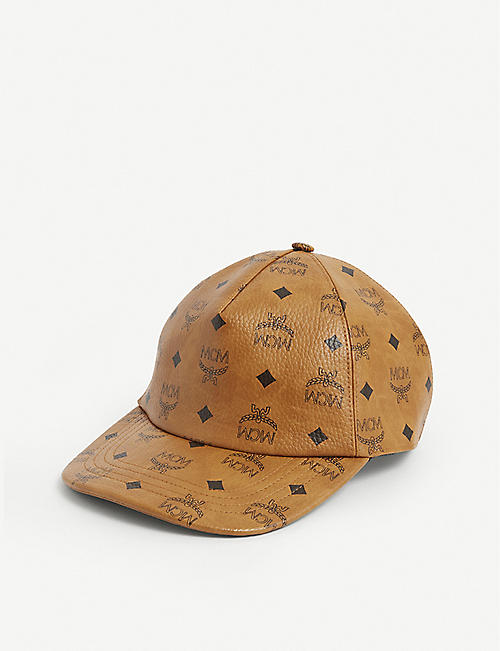 MCM: Logo-print cotton leather cap