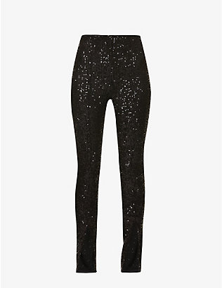 ROTATE BIRGER CHRISTENSEN: Alicia skinny high-rise sequinned trousers