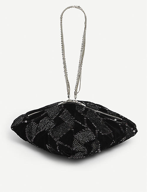 ROTATE BIRGER CHRISTENSEN: Nadele sequin-embellished woven bag