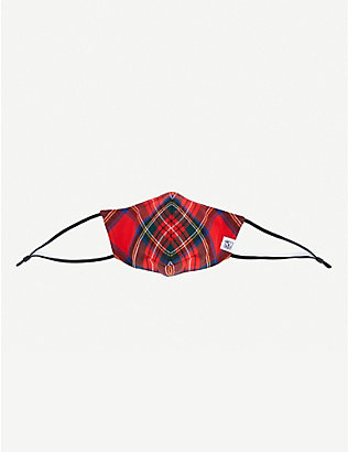 JOHNSTONS: Joe tartan wool face covering