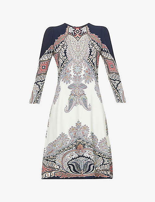 ETRO: Stromboli paisley-print stretch-woven midi dress