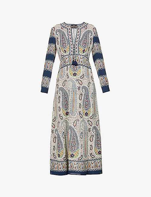 ETRO: Capri paisley-print stretch-crepe midi dress
