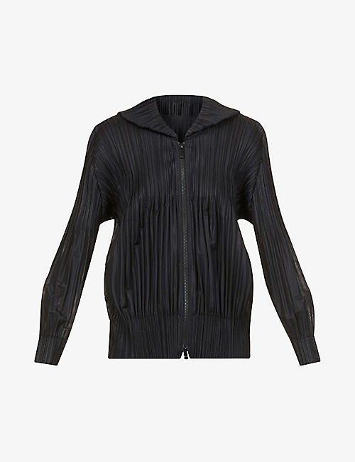 PLEATS PLEASE ISSEY MIYAKE: Fluffy pleated woven hoody