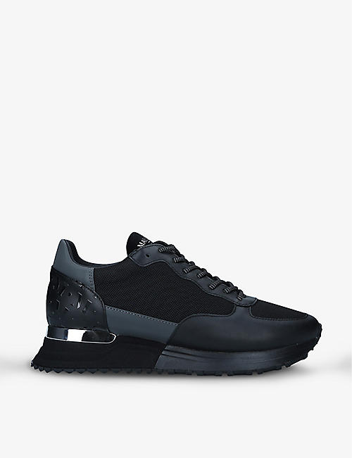 MALLET: Popham leather mesh running trainers