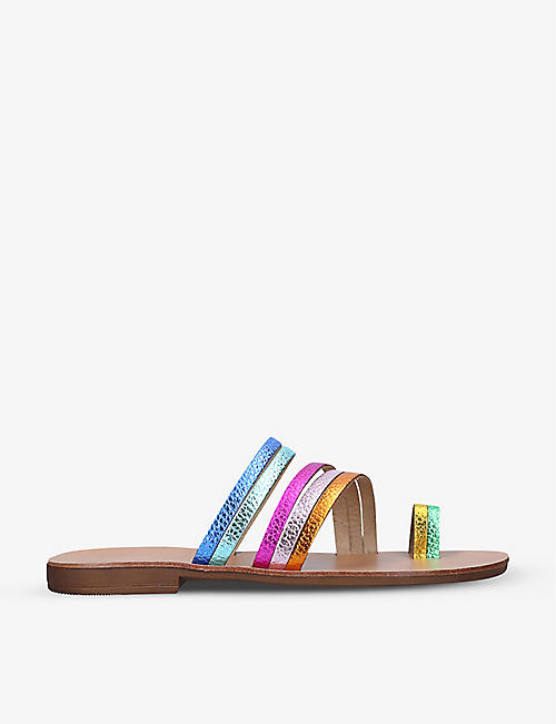 KURT GEIGER LONDON: Deliah Rainbow leather sandals