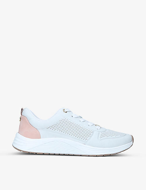 CARVELA COMFORT: Capital perforated faux-leather low-top trainers