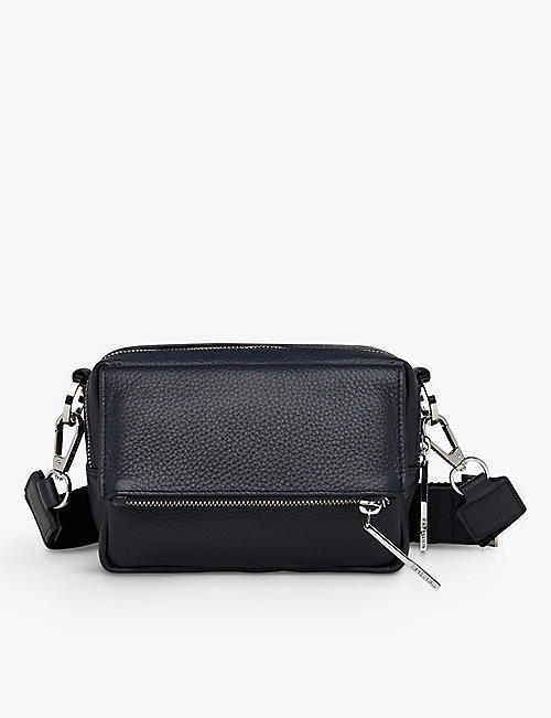 WHISTLES: Bibi leather cross-body bag