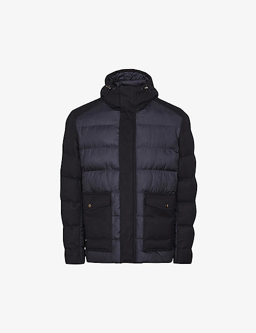 REISS: Graydon quilted woven jacket
