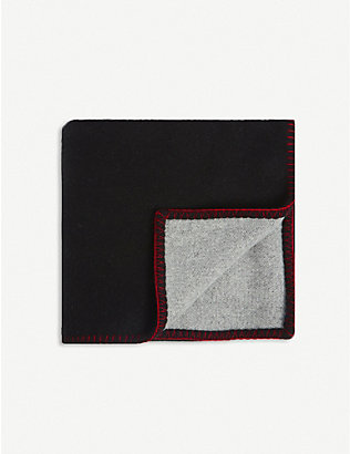 BELLA FREUD: Dog-intarsia wool and cashmere-blend blanket