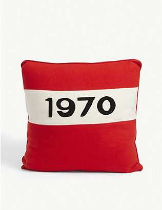 BELLA FREUD: 1970 wool and cashmere-blend cushion