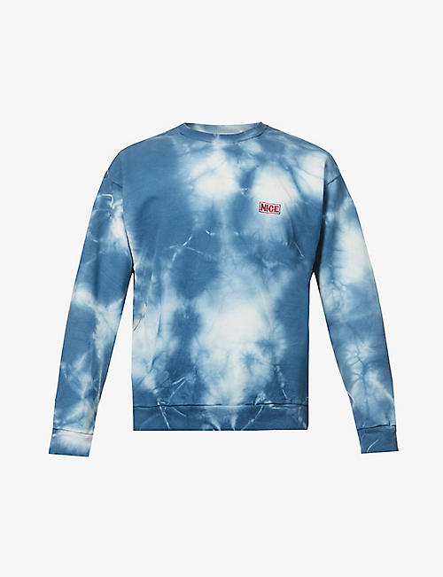MR NICE: Tie-dye cotton-jersey sweatshirt