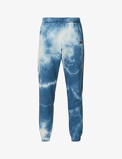 MR NICE: Tie-dye cotton-jersey jogging bottoms