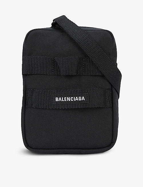 BALENCIAGA: Army brand-patch canvas cross-body bag