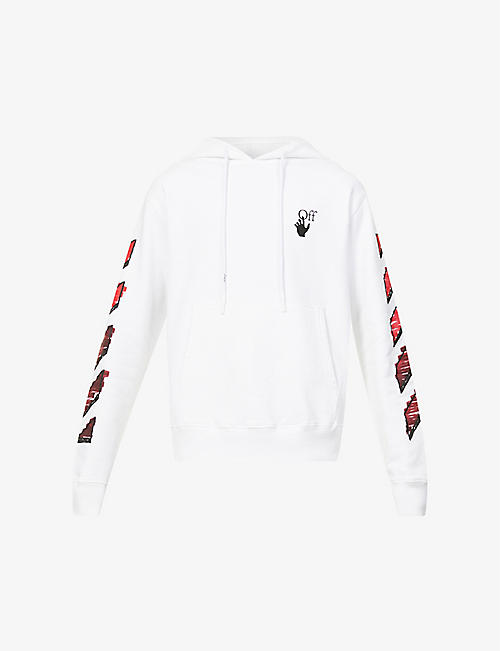 OFF-WHITE C/O VIRGIL ABLOH: Marker graphic-print cotton-jersey hoody