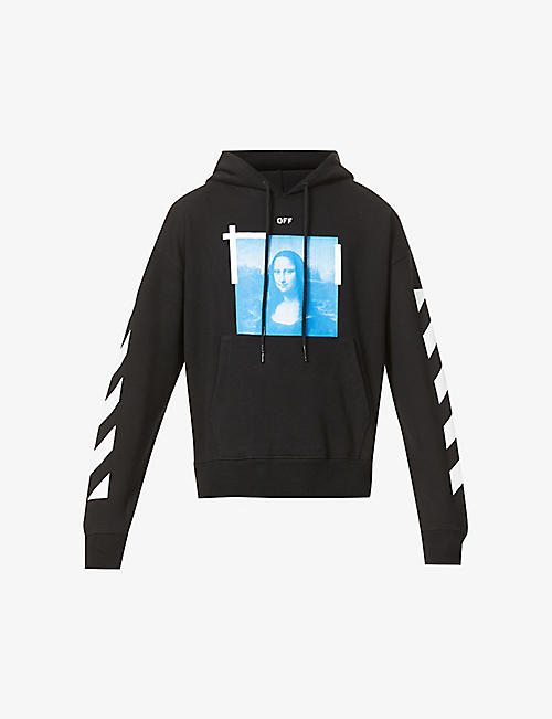 OFF-WHITE C/O VIRGIL ABLOH: Mona Lisa-print cotton-jersey hoody
