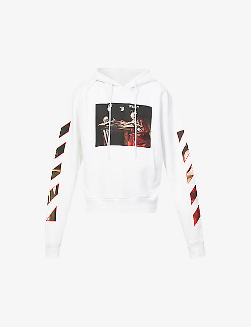 OFF-WHITE C/O VIRGIL ABLOH: Caravaggio graphic-print cotton-jersey hoody