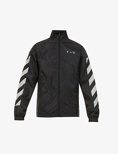 OFF-WHITE C/O VIRGIL ABLOH: Diagonal-appliqué relaxed-fit shell jacket