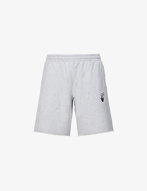 OFF-WHITE C/O VIRGIL ABLOH: Marker logo-print cotton-jersey shorts