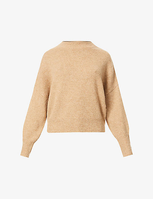 360 CASHMERE: Clementine high-neck wool and cashmere-blend jumper