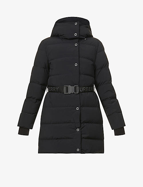 BURBERRY: Eppingham belted shell-down jacket