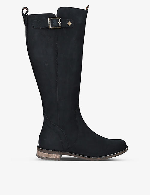BARBOUR: Rebecca suede knee-high boots