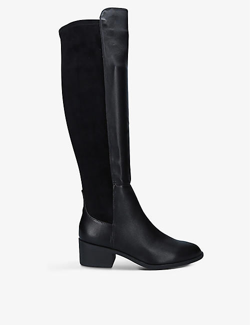 KG KURT GEIGER: Tring leather and suede over-the-knee boots