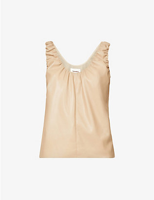 NANUSHKA: Yael sleeveless vegan-leather top