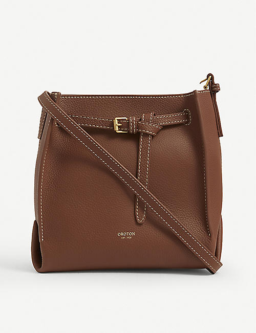 OROTON: Margot mini leather bucket bag