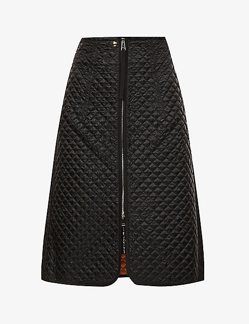 MONCLER GENIUS: 1952 Gonna quilted shell-down midi skirt