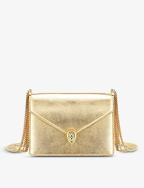BVLGARI: Serpenti Forever leather shoulder bag
