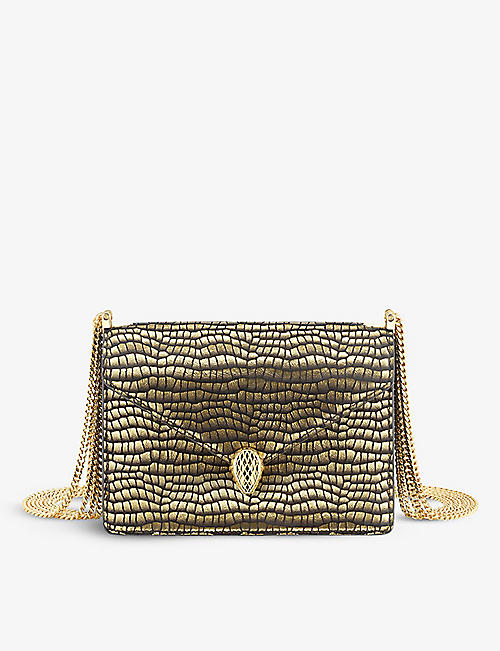 BVLGARI: Serpenti Forever suede shoulder bag