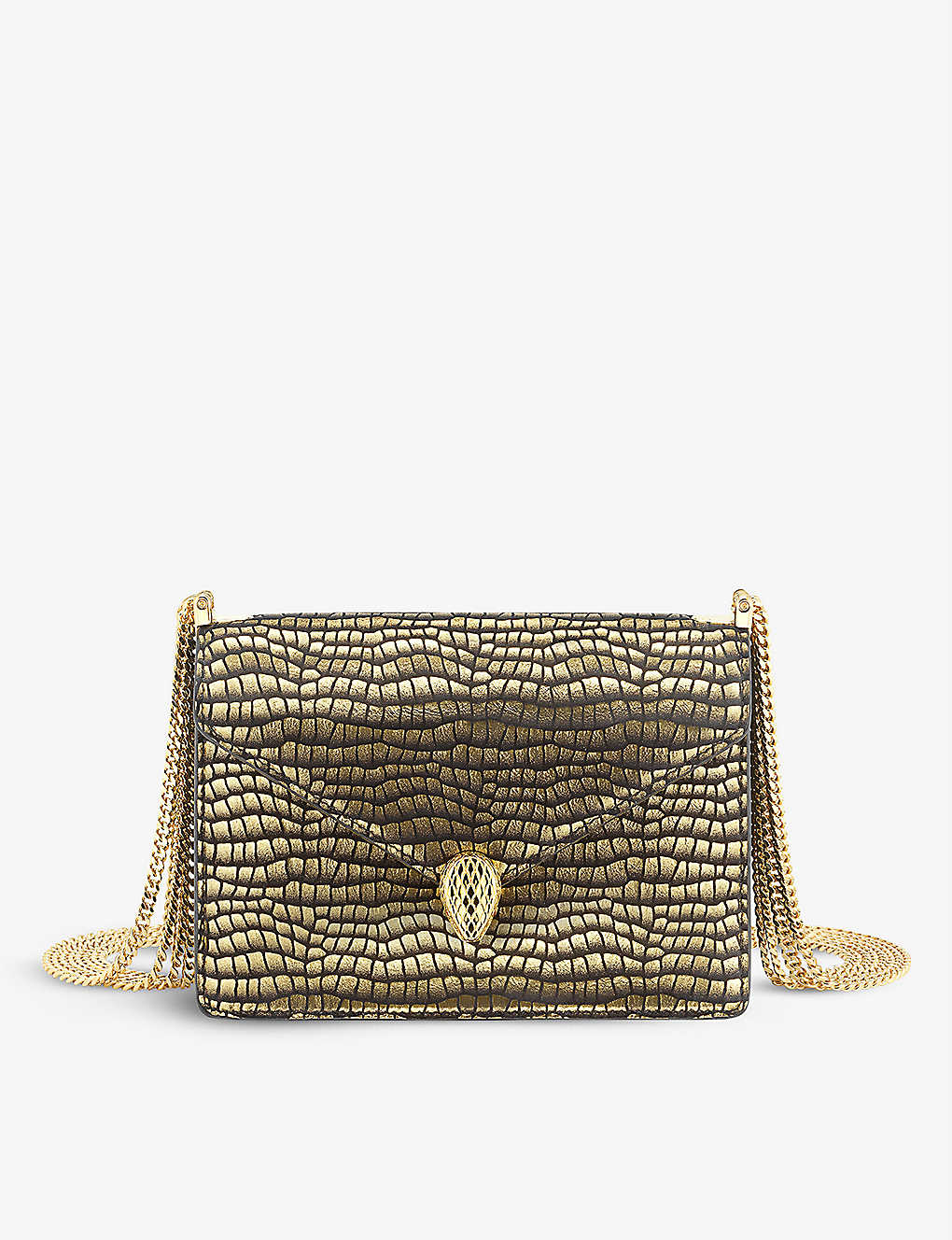 Serpenti Suede Shoulder Bag