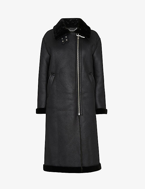 WHISTLES: Ultimate longline biker coat