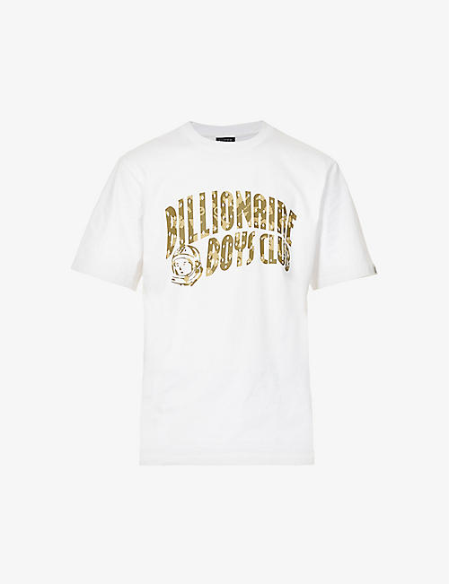 BILLIONAIRE BOYS CLUB:Confetti 徽标印花平纹针织棉 T 恤