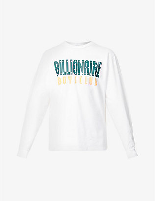 BILLIONAIRE BOYS CLUB: Logo-print crewneck cotton-jersey top