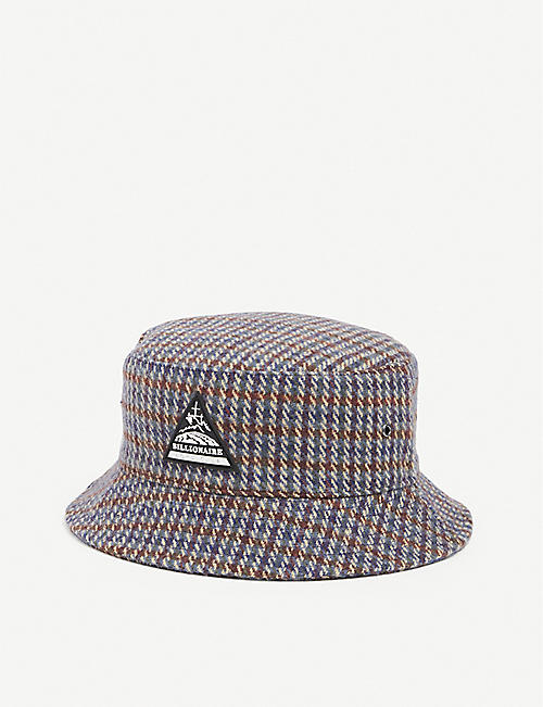 BILLIONAIRE BOYS CLUB: Checked cotton bucket hat