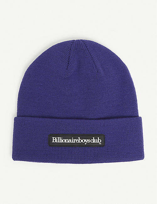 BILLIONAIRE BOYS CLUB: Brand-patch knitted beanie hat