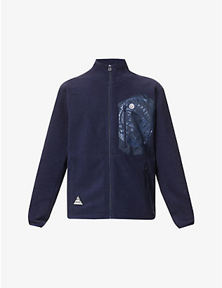 BILLIONAIRE BOYS CLUB: Logo-print lightweight fleece jacket